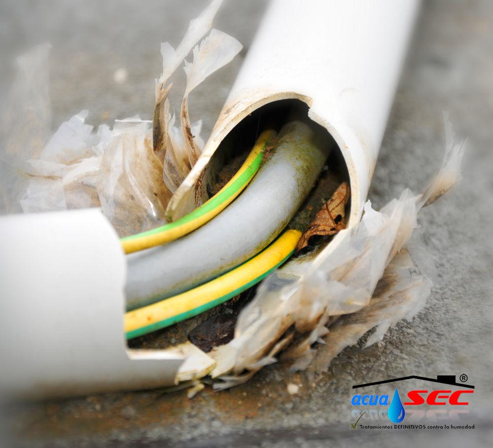 cable eléctrico daño acuasec